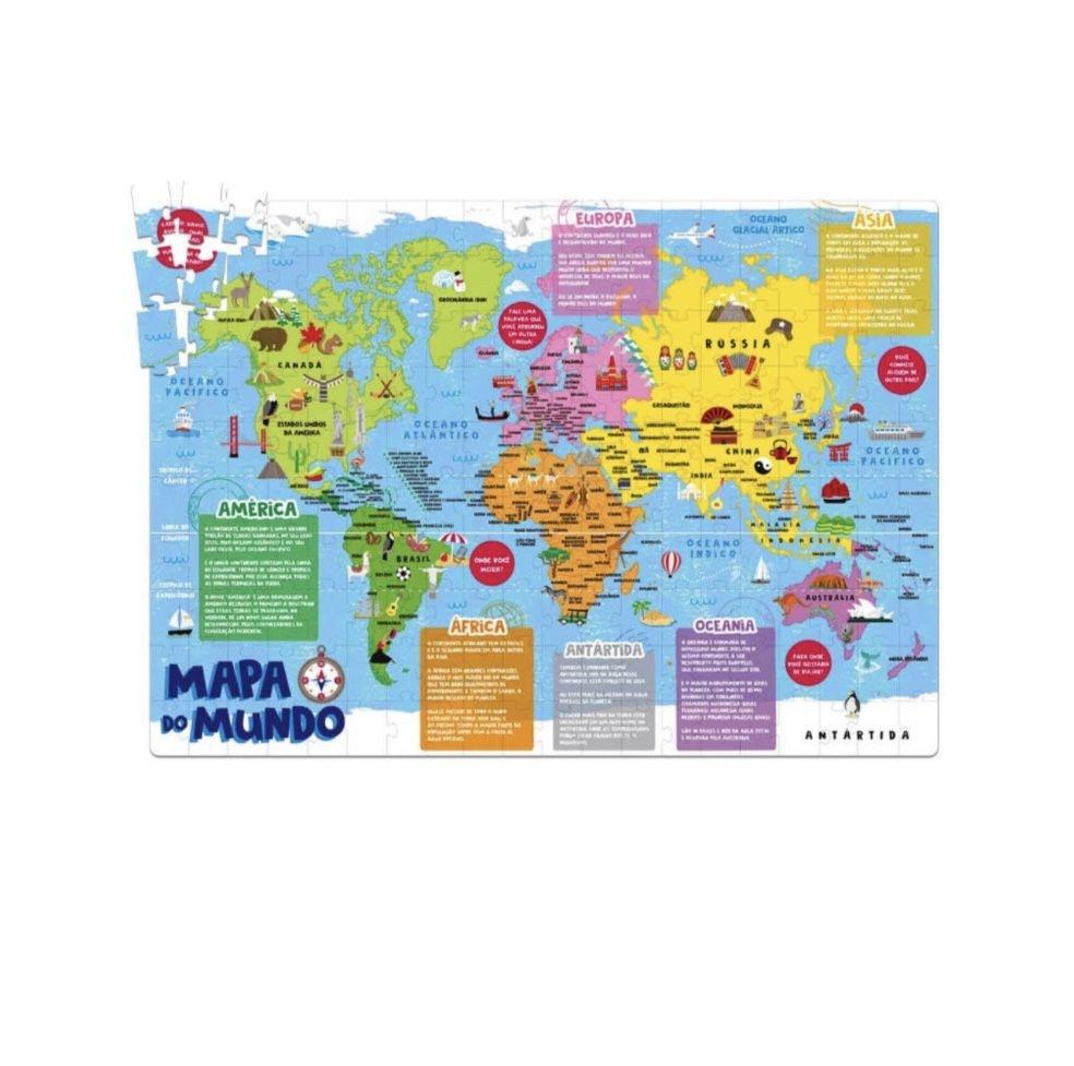 MAPA DO MUNDO - 200 PEÇAS